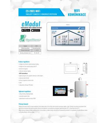 CS - 2801 WiFi pokojový termostat s komunikací OpenTherm